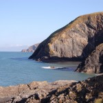 Cliffs at Ceibwr Bay