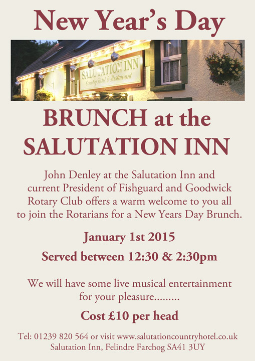 What's on at the Salutation on New Years Day